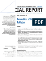 Devolution of Power in Pakistan