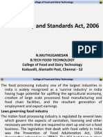 Food Safety and Standards Act, 2006 Final