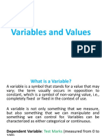 Variables and Values