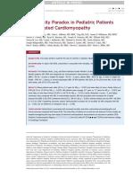 No Obesity Paradox in Pediatric Patients