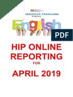 HIP Online Reporting Template April 2019 sk