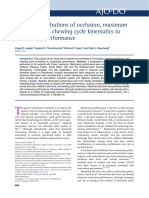 12.Relative Contributions of Occlusion, Maximum Bite Force, And Chewing Cycle Kinematics to Masticatory Performance