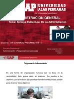 Semana 6 Enfoque Estructural de La Administración-2018-1