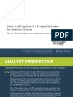 It Select and Implement an HRIS Executive Brief