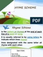 Rhyme Scheme Ppt by Hush