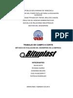 Métodos de Evaluación Del Desempeño en La Empresa Bituplast