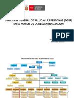 Analisis de La Descentralizacion en Salud - Dgsp Minsa