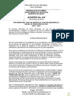 Plan de Desarrollo Anorí 2016 2019