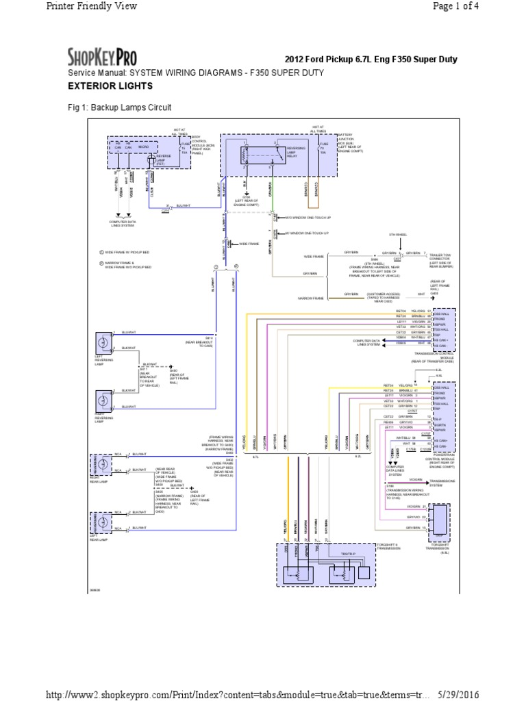 2012 f350 Light Wiring Diagram | Trailer (Vehicle) | Cars Of The United  States | Ford F 350 Dash Lights Wiring Diagram |  | Scribd