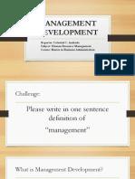 Management Development Report