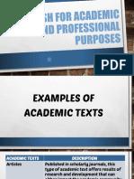 Academic vs. Non Academic Writing