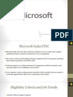 Microsoft Experience PPT_CSE_2019 Batch-3