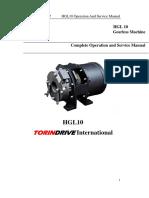 HGL10 Operation Service Manual