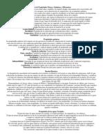 Tipos de Propiedades Físicas y Químicas y Diferencias