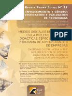 Medios Digitales Emergentes en La Implementación de Didácticas Específicas