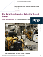 Site Conditions Impact on Caterpillar Genset Ratings