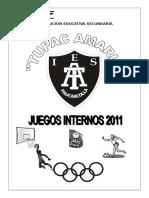 Programa Juegos Internos 2011