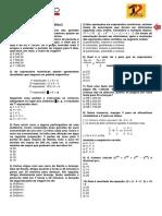 Aula 01 - Básico VG 2 - Matemática 2 - Prof. Markão - Exercícios
