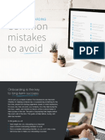 Top 10 Onboarding Mistakes to Avoid