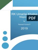 RK Umarlai Khalsa Magazine 2019