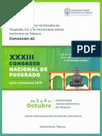 XXXIII CNdePosgrado y Expo Posgrado2019