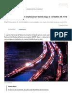 Anatel Aprova Plano de Ampliação de Banda Larga e Conexões 3G e 4G No País