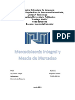 Monografía Unidad I Mercadotecnia Integral y Mezcla de Mercado