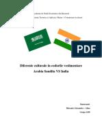 Tema 1 Diferente Culturale in Codurile Vestimentare Arabia Saudita - India