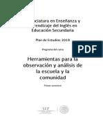 Herramientas para observación y analisis de la escuela y la comunidad.