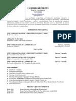 Curriculum Carlos Zarzalejo