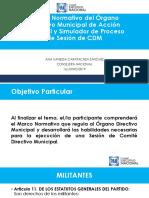 Curso para Aspirantes a Dirigencias Municipales. Marco Normativo del CDM.