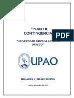 Plan de Contingencias de La Universidad Privada Antenor Orrego