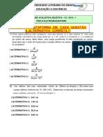 OBJETIVA 1 - ELETROMAGNETISMO