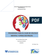 Programa Para El Club de Calculo Mental