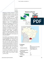 Paraná - estado brasileiro.