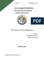 Valoración Financiera de Engie Perú 2018.