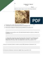 Avaliação de História 2.º Bi 1801 e 1802
