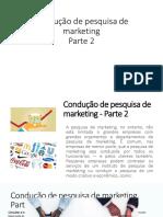 Condução de Pesquisa de Marketing Parte 2