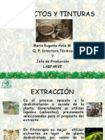 EXTRACTOS Y TINTURAS. María Eugenia Ávila M. Q. F. Directora Técnica Y Jefe de Producción LABFARVE
