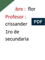 Documento de Word de Flor