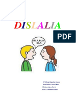 INFORME DISLALIA