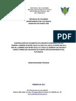 Especificaciones Tecnicas Puerto Asis Def