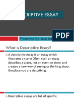 Descriptive Essay Final