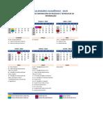 Calendario Academico CO AEDU Facnet 2019-1