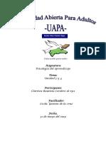 Tarea 3 y 4 de Psicologia Del Aprendizaje