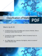 Day 11 - Classification of Matter