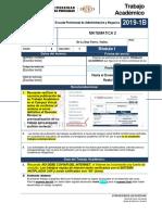 Fta-2019-1b-m1 Matematica 2 Sección 1