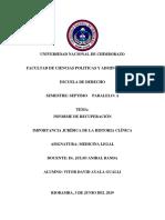 Importancia Juridica de La Historia Clinica