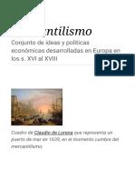 Mercantilismo en la edad media
