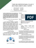 Configuracion de Switch Para Vlan y Servidores Para Dhcp, DNS y Http